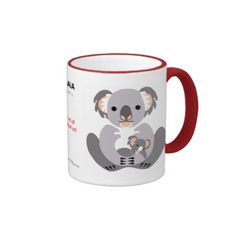Koala mug from WildthingsWorldWide range of endangered animal merchandise with 25% of sales donated to animal welfare orgs. See website for over 40 different animal designs. www.wildthingsworldwide.com.au
