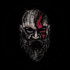 Shop God of war 💪 Kratos - The Warrior of Gods god of war t-shirts designed by MrSparks as well as other god of war merchandise at TeePublic. War Tattoo, Kratos God Of War, Joker Art, Gaming Wallpapers, Marvel Wallpaper, Video Game Art, Art Day, Cool Art, Geek Stuff