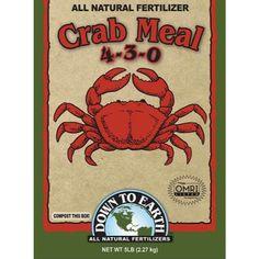 Down To Earth Crab Meal Fertilizer, 5 lb. Down to Earth https://www.amazon.com/dp/B0057K4I7Y/ref=cm_sw_r_pi_dp_x_2ZWCybPDBJ58G