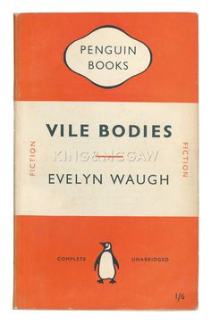 Vile Bodies Art Print by Penguin Books at King & McGaw