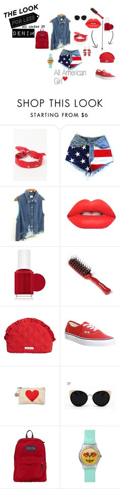 """""""Denim"""" by m-x-p ❤ liked on Polyvore featuring LA: Hearts, Lime Crime, Essie, Vera Bradley, Vans, Una-Home, JanSport and New Directions"""