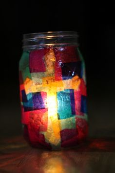 Small Things: Lenten Vigil Candle Holder. Great idea for the Lenten Season