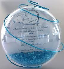 plan de table boule transparente - menu ou cadeau invité pour rappeler le jonglage !