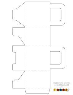 Printable Favor Box or Gift Box Template Printable Favor Box Template – Craft Jr.