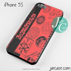 supernatural logo art Phone case for iPhone 4/4s/5/5c/5s/6/6 plus