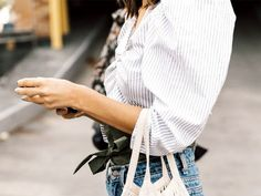 Is Everyone Ditching Off-the-Shoulder Tops for This Style? via @WhoWhatWear