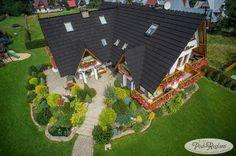 Widok z lotu ptaka na pensjonat http://www.podreglami.pl