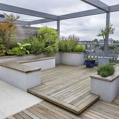 Roof terrace design king's cross patio/roof top roof terrace Terrace Garden Design, Rooftop Design, Rooftop Terrace, Garden Seating, Outdoor Seating, Terrace Ideas, Rooftop Decor, Green Terrace, Rooftop Lounge