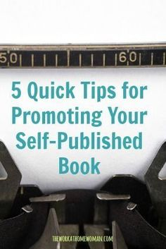 If you're going to self-publish, you have no choice but to do most of the marketing yourself. But if there's anything that can make things easier, it's social media. Here are five quick tips for promoting your self-published book through social media. Cover Design, Print On Demand, Book Writing Tips, Writing Ideas, Memoir Writing, Writing Help, Writing Skills, Writing Inspiration, Writing Prompts