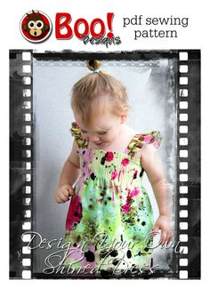 NB - 10 : PATTERN Design Your Own Shirred Dress - PDF Pattern and Tutorial (Instant Download)