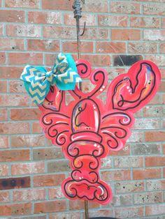 Wooden crawfish door hanger by ArtzyDecorAndMore on Etsy