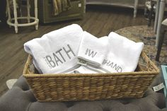 Bath linens. Robin's Nest Interiors - Louisville Interior Design & Home Accessories Boutique located in the heart of Middletown, KY