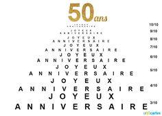 Joyeux Anniversaire 50 Ans Anniv Happy Birthday 18th Happy