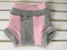 Small upcycled cashmere wool soaker with extra wet zone layer diaper cover $16.00