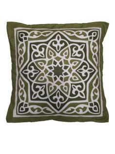 """Khayameya Cushion Cover 001   Egyalleys Beautiful handmade cushion cover by tent makers using same technique of ancient craft of making huge tent pavilions. Measure:   44 x 44 cm / 17.3 x 17.3 """" Price: US$24.90"""
