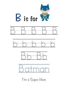 Preschool Printables: Super Hero