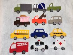12 sets of Transportation/Vehicles Felt Board Set / Flannel Board / Imagination / Preschool / Trucks / Cars / Road Cars toys/ Kids car toy by IvyHandmadeDesign on Etsy https://www.etsy.com/listing/273071164/12-sets-of-transportationvehicles-felt