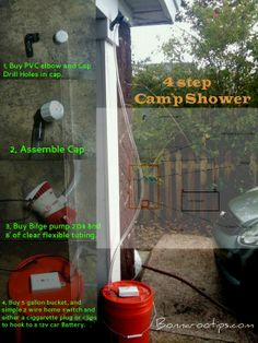 Picture and directions - Bonnaroo shower!