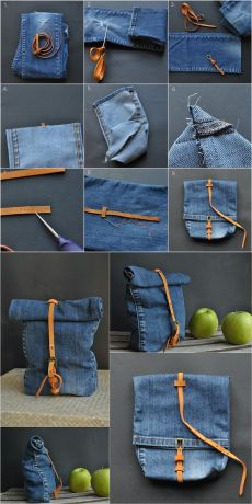 Evaluate Old Jeans Source by - Upcycling DIY .- Alte Jeans Source von auswerten – Upcycling DIY Ideen Evaluate Old Jeans Source by – Upcycling DIY Ideas # - Denim Crafts, Upcycled Crafts, Sewing Crafts, Sewing Projects, Sewing Diy, Diy Projects, Sewing Ideas, Diy Jeans, Diy Bag Using Jeans