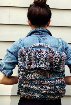 Large Crochet Backpack by CrimsonCloverproduct on Etsy, $60.00