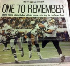 Front Page of the Times-Picayune Sports Section on Nov. 26, 2010