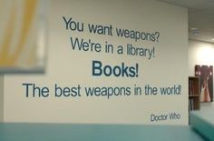 Where is this magnificent library where they paint Dr. Who quotes on the wall?