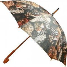 Parapluie imprimé de pommes de pin