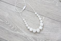 Silicone Teething Necklace pearly silicone nursing от TeetherLand