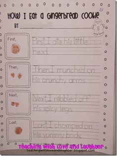 Teaching With Love and Laughter: How I eat a gingerbread cookie freebie!