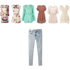"""""""Dresses and Jeans"""" by radsstylebook on Polyvore"""