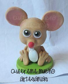 SOUVENIR RATON PEREZ PORCELANA FRIA Farm Birthday, Birthday Parties, Kids Party Themes, Ideas Para, Pastel, Teddy Bear, Clay, Toys, Animals