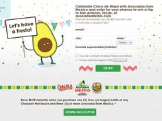 Avocados from Mexico Let's Have a Fiesta Sweepstakes