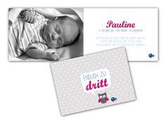 Baby- & Geburtskarten - babykarte | endlich zu dritt... - ein Designerstück von nellibelly bei DaWanda