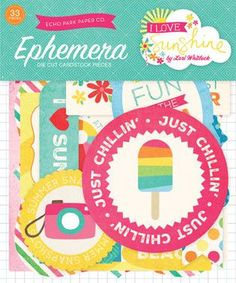 Echo Park - I Love Sunshine Ephemera Die Cut Cardstock Pieces
