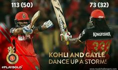 Gayle & kohli rocked today