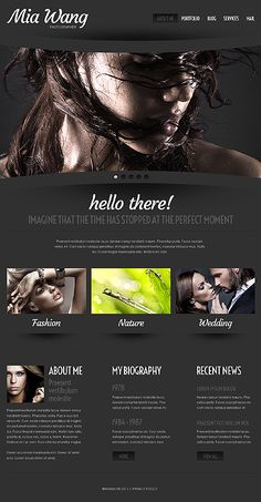Template 43224 - Art and Photography Responsive WordPress Theme With Bootstrap & Cherry Framework