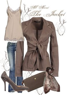 """All About The Jacket"" by christina-young ❤ liked on Polyvore"
