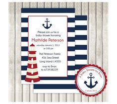 Invitaciones de nacimiento motivo marinero por ByYolanda en Etsy, €10.00