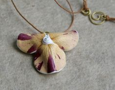 Unique Real Natural Flower Pendant - Botanist In Love Jewelry -  handmade dried flowers jewelry