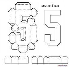 LETTERE DELL'ALFABETO E NUMERI IN 3D FAI DA TE | CreaConLaCarta Paper Gift Box, Diy Gift Box, Diy Box, Paper Gifts, Origami Toys, Diy Origami, Diy Letters, Letters And Numbers, Box Patterns