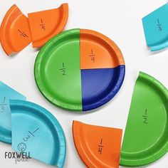 Fraction paper plates are such an effective, inexpensive way for students to see and understand fractions!! Plus these work across lots of�