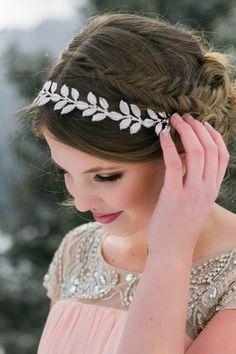 Winter bridal/formal Hair and makeup Soft and feminine makeup Fish tail braid updo