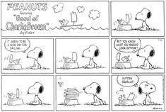 For July 31, 1983 Charlie Brown Peanuts, July 31, Snoopy And Woodstock, Comic Strips, Things To Think About, Comics, Comic Books, Cartoons, Comic
