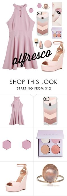 """""""Alfresco in pink"""" by jenniegonzalez ❤ liked on Polyvore featuring Casetify, Wolf & Moon, Anastasia Beverly Hills and RED Valentino"""