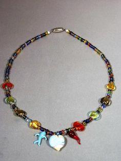 Collana multicolore in vetro