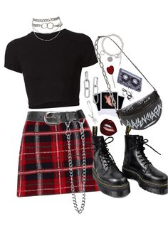 punk fashion is this punk Outfit is this punk created by sierrastevie on ShopLook.io perfect for Aries Style Visit us to shop this look. Style N Roll Hall Of Fame Style, Grunge Outfits, Kpop Outfits, Teen Fashion Outfits, Edgy Outfits, Retro Outfits, Cute Casual Outfits, Aries Outfits, Punk Rock Outfits, Edgy Teen Fashion