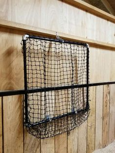 Homemade Slow feeder using PVC pipe and netting. Ingenius!