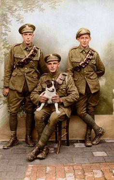 WWI Royal Field Artillery group, same regiment as my grandfather, William Webster. British Army Uniform, British Uniforms, British Soldier, Ww1 History, Military History, World War One, First World, Commonwealth, Ww1 Soldiers