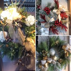 Beautiful Holiday Wreaths For Your Entry And Above Your Mantle Various Sizes And Styles Go