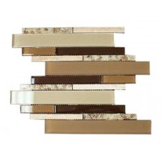 Newport Colonial Beige Brown Shell Deco Blend Glass Marble Mosaic Tile. #Shell_deco, #Glass_mosaic, #Marble_mosaic_tile